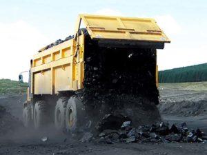 Multidrive Vehicles LTD - M8 Mining Vehicle Using the MHE to disharge coal
